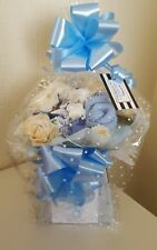 Baby Bouquet of Baby Clothes, Baby Shower Gift, Nappy Cake, Baby boy , New Baby