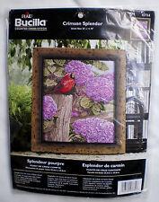 "Bucilla Cardinal & Floral ""Crimson Splendor"" Counted Cross Stitch Kit"