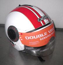 Caberg Helm Motorradhelm Jethelm Riviera V2+ Pure Gr. XXS weiß/rot Sonnenblende