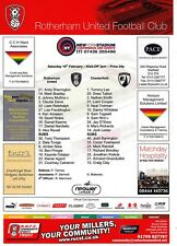 Teamsheet - Rotherham United v Chesterfield 2012/13