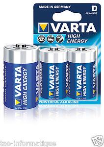 Lot Of 2 Alkaline Batteries LR20 VARTA