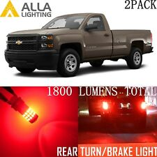 Alla Lighting 39-LED Turn Signal Lights Blinker Bulbs/ Brake Light Red for Chevy