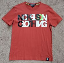 Nickelson Clothing NEW! Short-Sleeve Graphic T-shirt Orange Large