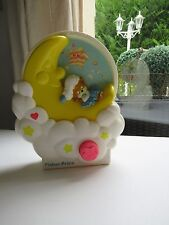 👿 Ancienne Veilleuse Musical La Lune Teddy Beddy Bear Fisher Price Vintage 1985