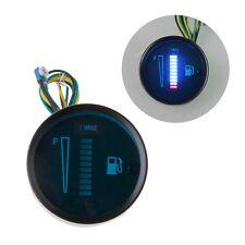"""2"""" 12V BLUE Universal Car Motorcycle Fuel Level Meter Gauge 8 LED Light Display"""