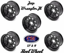 Outland Set Of 5 Black 17x9 Steel Wheel 5x5 Jeep Wrangler JK 2007-18 391550070