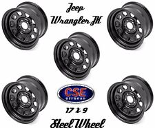 Outland Set Of 5 Black 17x9 Steel Wheel 5x5 for Jeep Wrangler JK 2007-2018