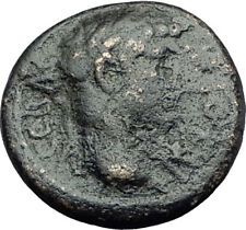 TITUS and DOMITIAN 79AD Germe in Lydia RARE Authentic Ancient Roman Coin i63616