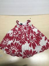 Baby Gap Twist and Shout Baby Girl Red Floral Dress Size 6-12 Months