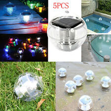 5Pcs Solar Floating Pond Pool Rotate Light LED Lawn Garden Light Color Changing