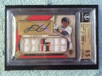 MUST READ! #1/1 BGS 9.5/10 JD MARTINEZ 2017 TOPPS TRIPLE THREADS AUTO POP (1)