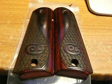 COLT 1911 AUTO FULL SIZE GRIPS WITH COLT LOGO & SERPENTINE CHECKERED EMBOSSED