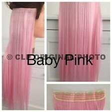 Hair Extensions. Clip in Straight Synthetic One Piece, Thick Full Head Real Hair