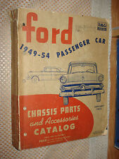 1949-1954 FORD CHASSIS PARTS CATALOG CAR PARTS NUMBERS LIST ORIGINAL BOOK WOW
