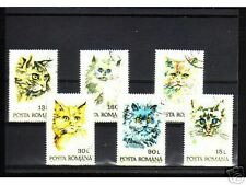 0912++ROUMANIE   SERIE TIMBRES  CHATS