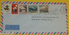 Spain 1965 Envelope with 5 Stamps – Bridges Great Graphics! Nice SEE!