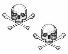 2x Skull Stickers Crossbones for Car Gas Tank Bumper Door Laptop Tablet Home #26
