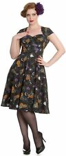 Hell Bunny 50s Harlow Black Halloween Print Dress