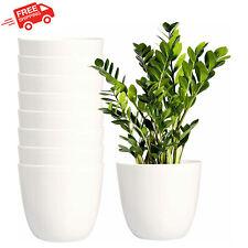 Plastic Indoor Flower Planters Set Of 8 Pack Pot Modern Decorative Gardening New
