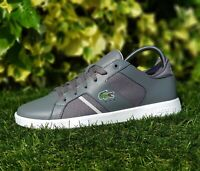 BNWB & Authentic Lacoste ® Novas 318 SPM Dark Grey Leather Trainers UK Size 8