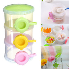 3 Layers Baby Milk Powder Formula Dispenser Feeding Case Box Bottle Container
