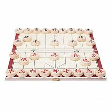 Portable Traditional Xiang Qi Wooden Folding Chinese Chess Checker Game Toy Play