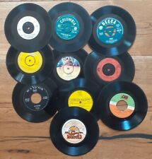 Job lot of 10 x 7 inch Single Vinyl Records For Craft, Upcycling Projects Etc
