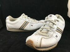 Womens Tommy Hilfiger CH103 White Gold Blue Athletic Shoes Sneakers SIZE 9.5 M