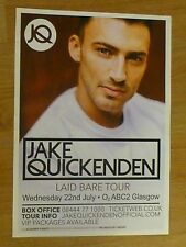Jake Quickenden - Glasgow july 2015 tour concert gig poster