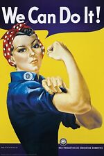 We Can Do It Poster Rosie the Riveter 24x36 Art Poster Print by J. Howard Miller