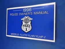 HARLEY DAVIDSON POLICE OWNERS OPERATORS MANUAL 1996 MOTORCYCLE FLHTP FLHPI