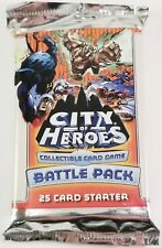 City of Heroes CCG Sealed Battle Pack 25 Card Starter