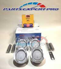 YCP 75MM VITARA LOW COMPRESSION PISTONS W/RINGS CIVIC JDM D16A D16Z6 D16Y7 D16Y8