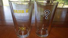 Vintage DUCLAW Brewing Company Beer Glasses Enigma Mayhem 2007 2 16 oz pint glas
