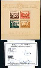 SBZ Thüringen Brückenbaublock 1946** Michel 4 ay Befund (S13303)