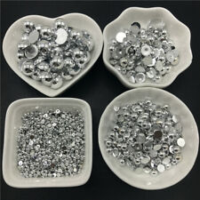 3 4 6 8 10 12mm Half Round Bead Flat Back Scrapbook Beads For Jewelry Making