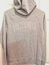 $50 Victoria Secret Sport Womens XS Sport VSX Light Gray Full Zip Front Hoodie