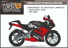 ADESIVI stickers moto KIT per APRILIA RS 125 1999 replica rsv4 red light