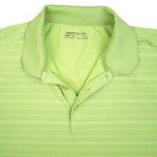 NIKE GOLF Fit Dry Green Stripe Mens Short Sleeve Golf Sport Polo Shirt - XL