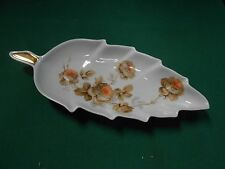 Great  LEAF Floral Design Candy/Nut Dish OLD NUREMBERG Bavaria,Germany