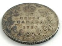 1928 Canada 10 Ten Cent Silver Dime Canadian Circulated George V Coin L504