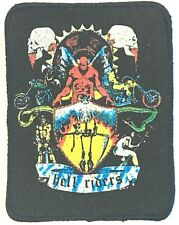 HELL RIDERS Old OG Vtg 1980`s Printed Sew On Patch Biker Motorcycle Not Angels