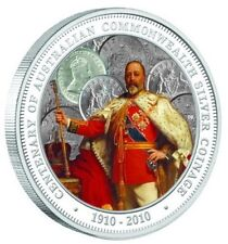 Australia 2010 1$ King Edward Coinage Centenary of  Commonwealth 1Oz Silver Coin