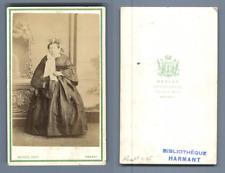 Mevius, Rennes, portrait de femme CDV vintage albumen carte de visite  Tirage