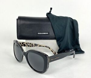 Dolce & Gabbana 4233 Auth Black Sunglasses 2857/87 53 mm 140 with Case Dust Bag