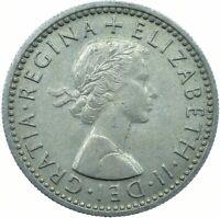 1955 LUCKY SIXPENCE PRE-DECIMAL / ELIZABETH II. / UNCIRCULATED   #WT21965