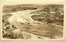 Photographie Fleuve l'Allier à Moulins vue aérienne 1960 44cm