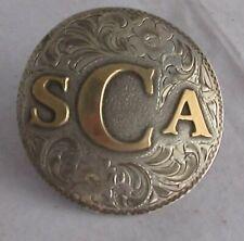 Ornate Confederate Sterling Silverado Insert Marked Csa