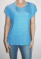 EMERSON Brand Blue Printed Short Sleeve Tee Size M BNWT #SE68