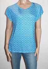 EMERSON Designer Blue Printed Short Sleeve Tee Size M BNWT #SE68
